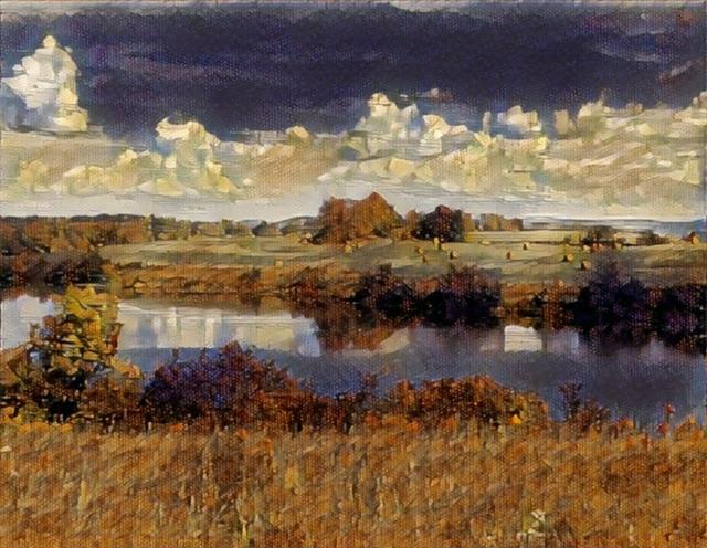 Impressionistic image of Ooms Pond