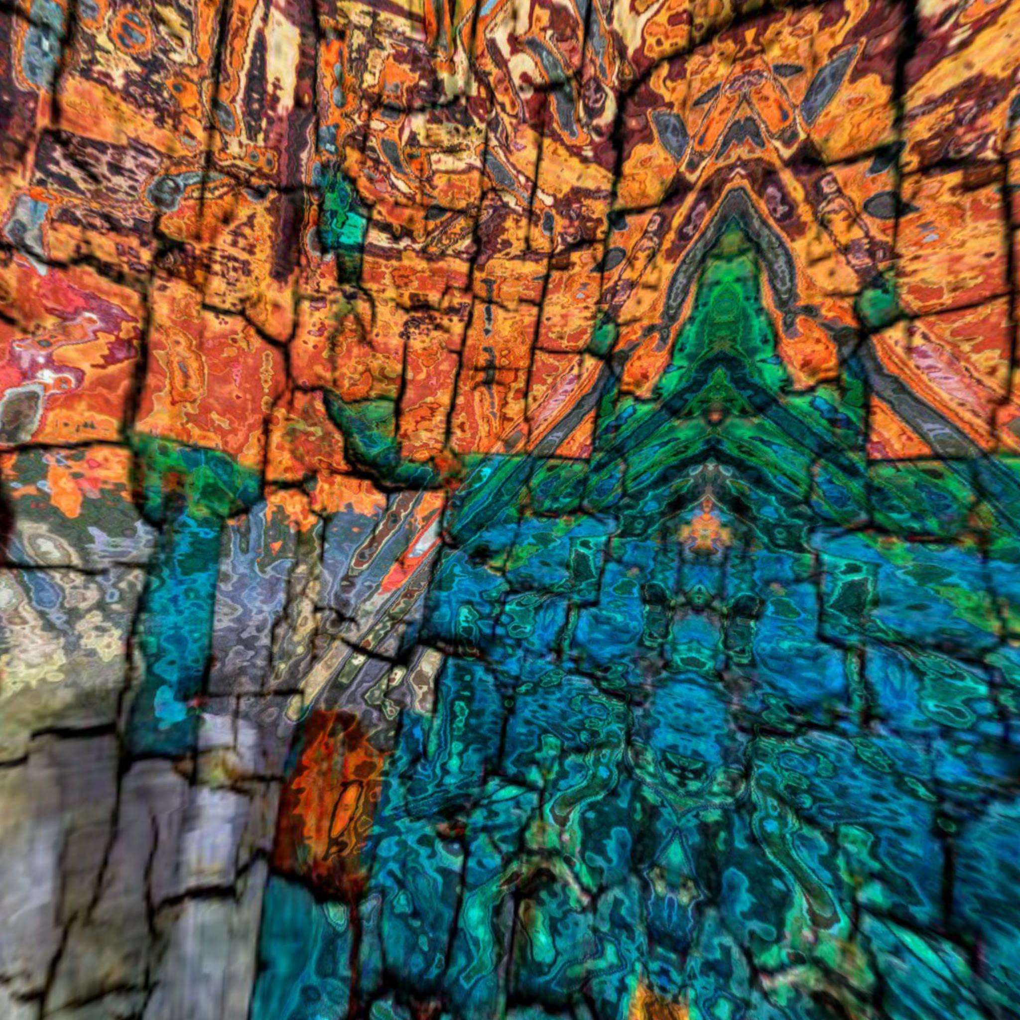 Colorful weathered wall